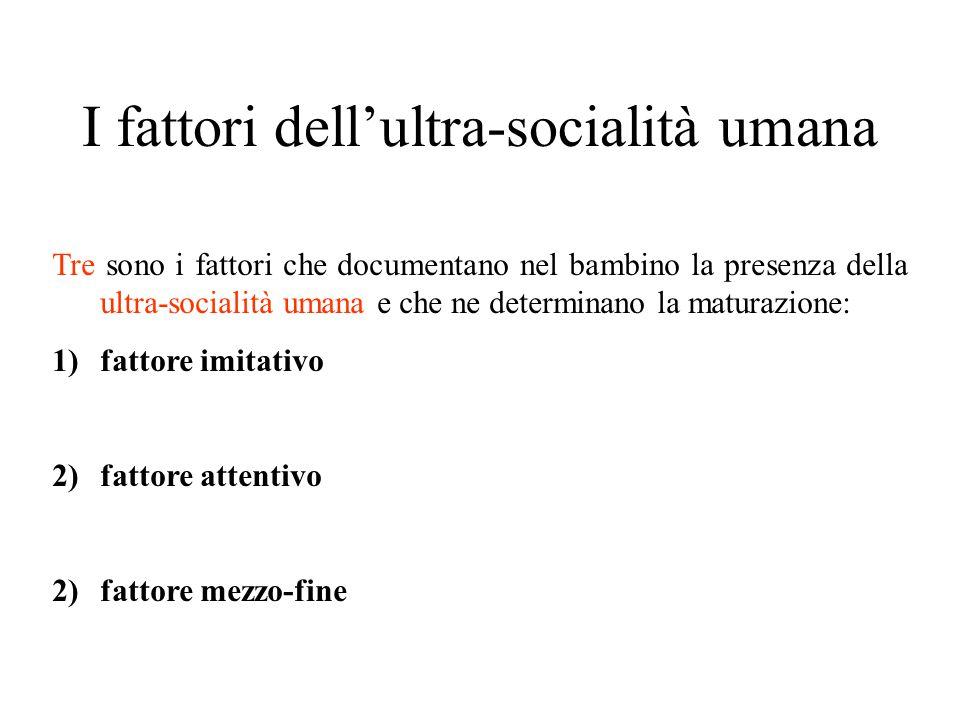 I fattori dell'ultra-socialità umana