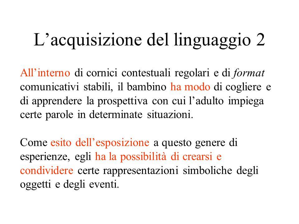 L'acquisizione del linguaggio 2