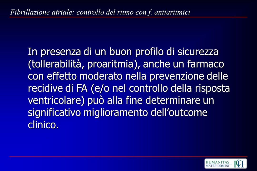 Fibrillazione atriale: controllo del ritmo con f. antiaritmici