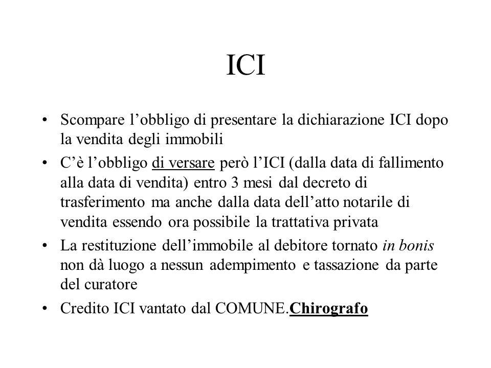 ICI Scompare l'obbligo di presentare la dichiarazione ICI dopo la vendita degli immobili.