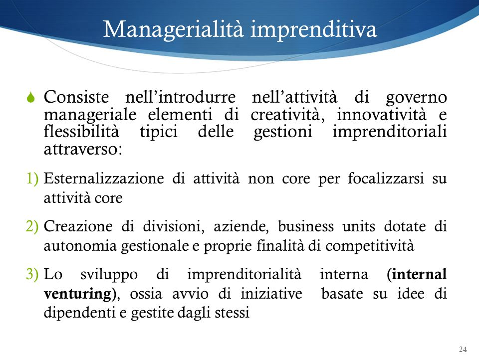 Managerialità imprenditiva