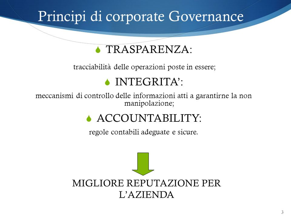Principi di corporate Governance