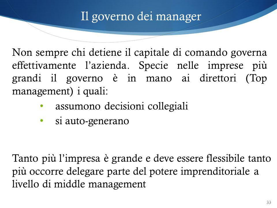 Il governo dei manager
