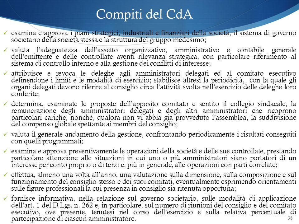 Compiti del CdA