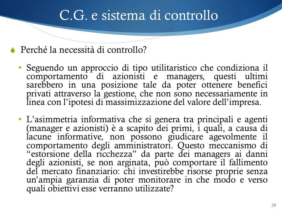 C.G. e sistema di controllo