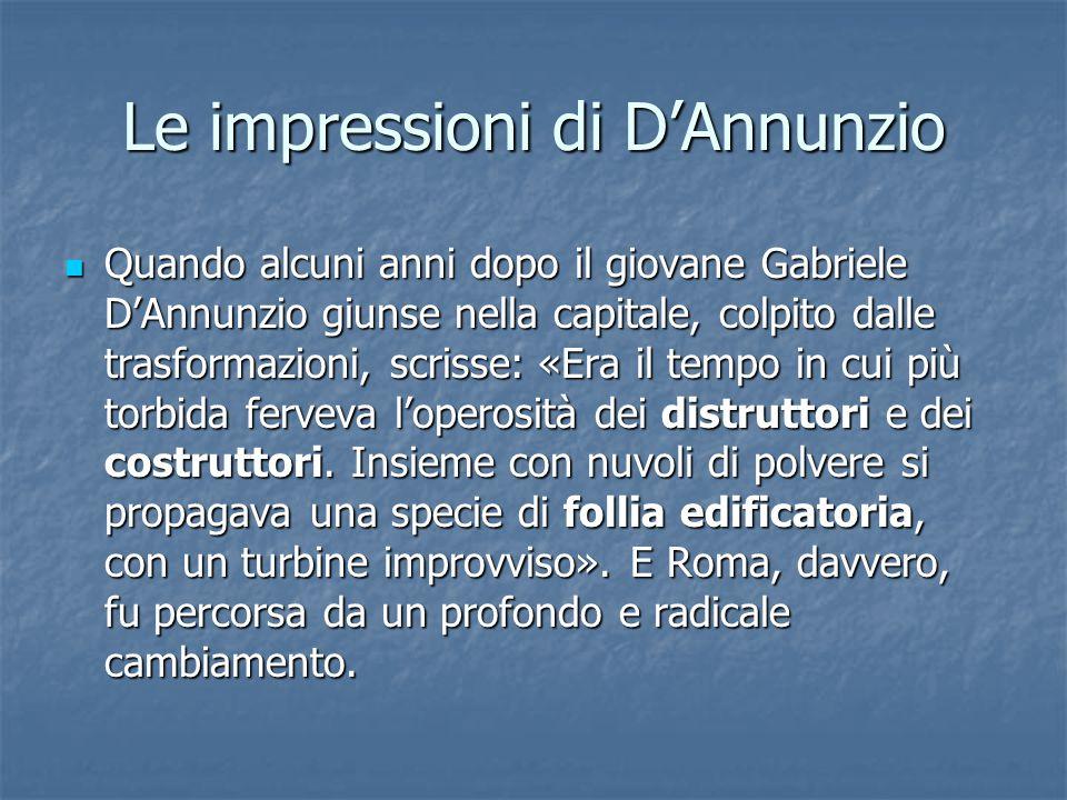 Le impressioni di D'Annunzio