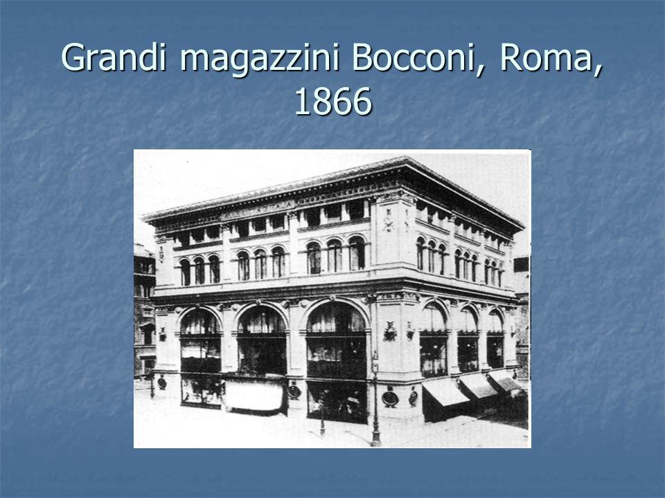 Grandi magazzini Bocconi, Roma, 1866