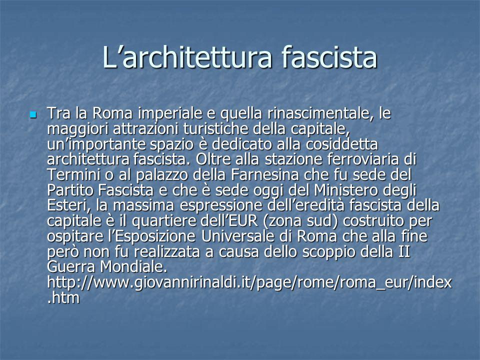 L'architettura fascista