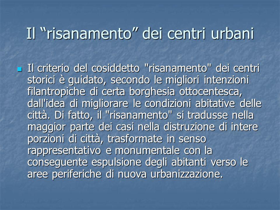Il risanamento dei centri urbani