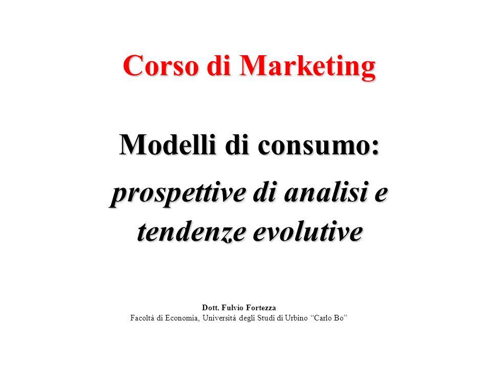 Modelli di consumo: prospettive di analisi e tendenze evolutive