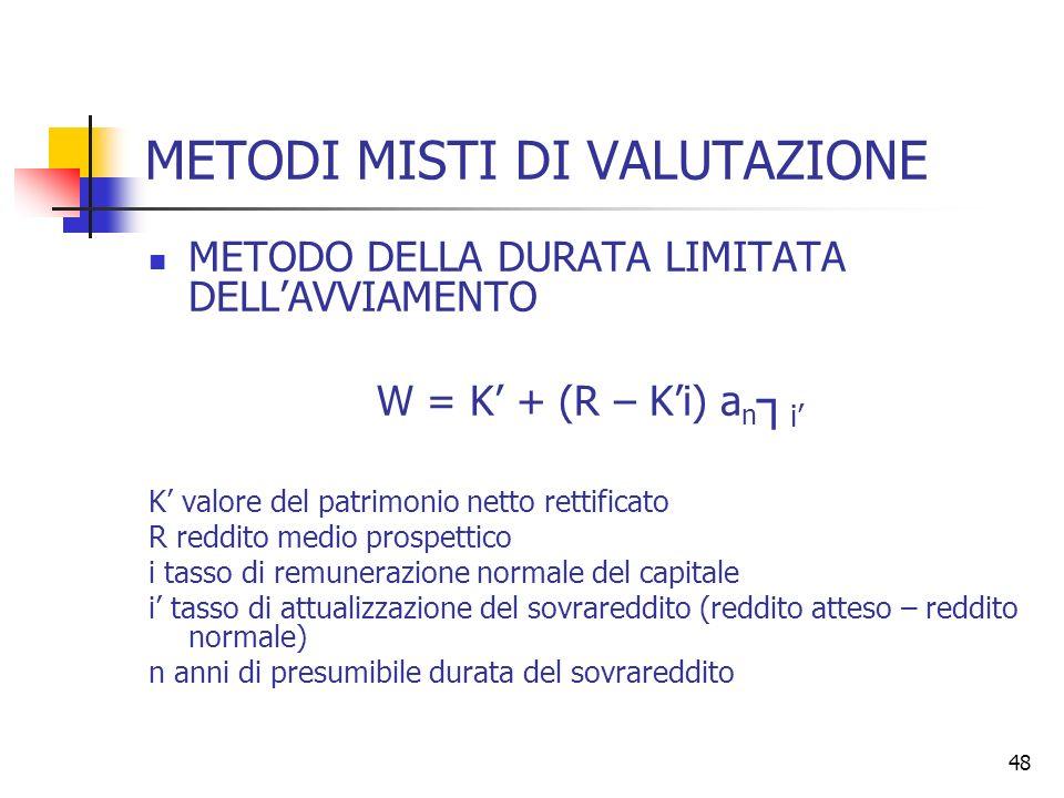 METODI MISTI DI VALUTAZIONE