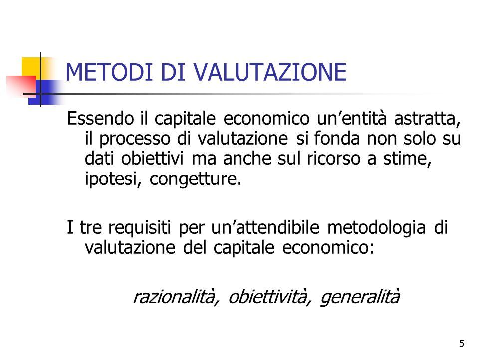 razionalità, obiettività, generalità