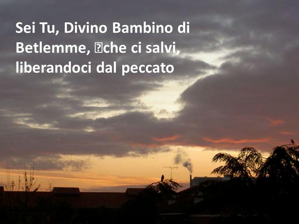 Sei Tu, Divino Bambino di Betlemme, che ci salvi,