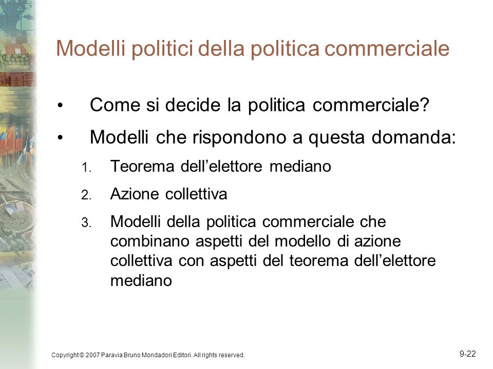 Modelli politici della politica commerciale