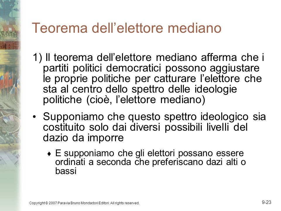 Teorema dell'elettore mediano