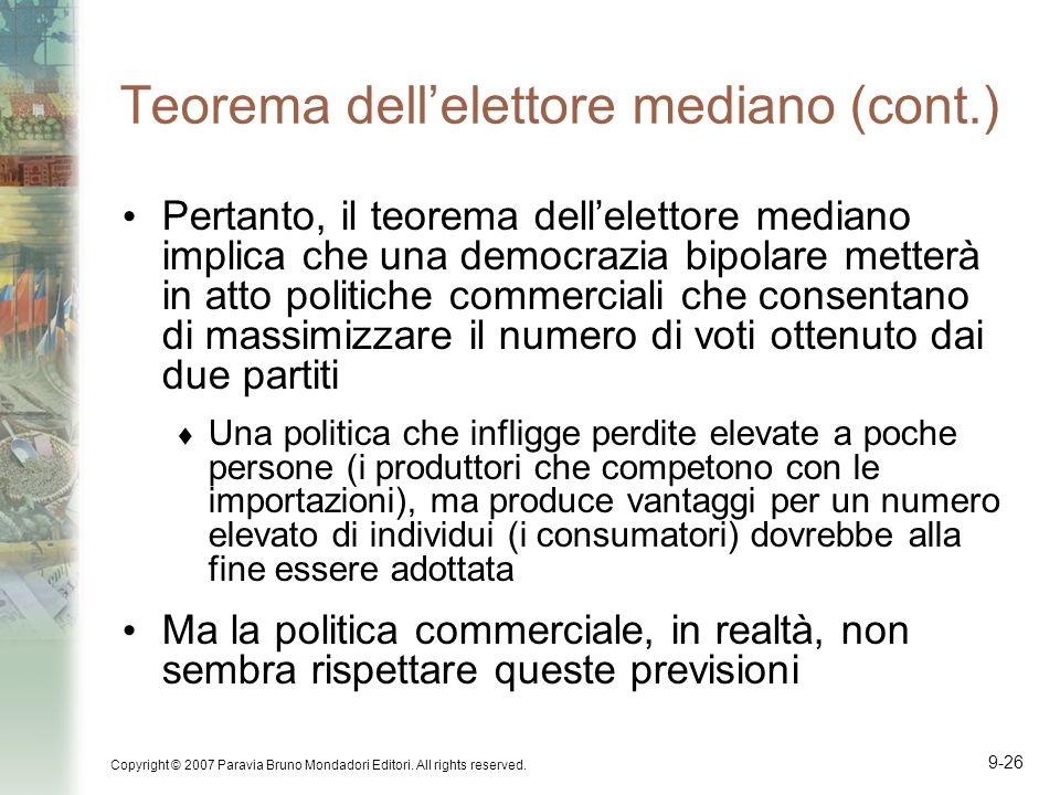Teorema dell'elettore mediano (cont.)