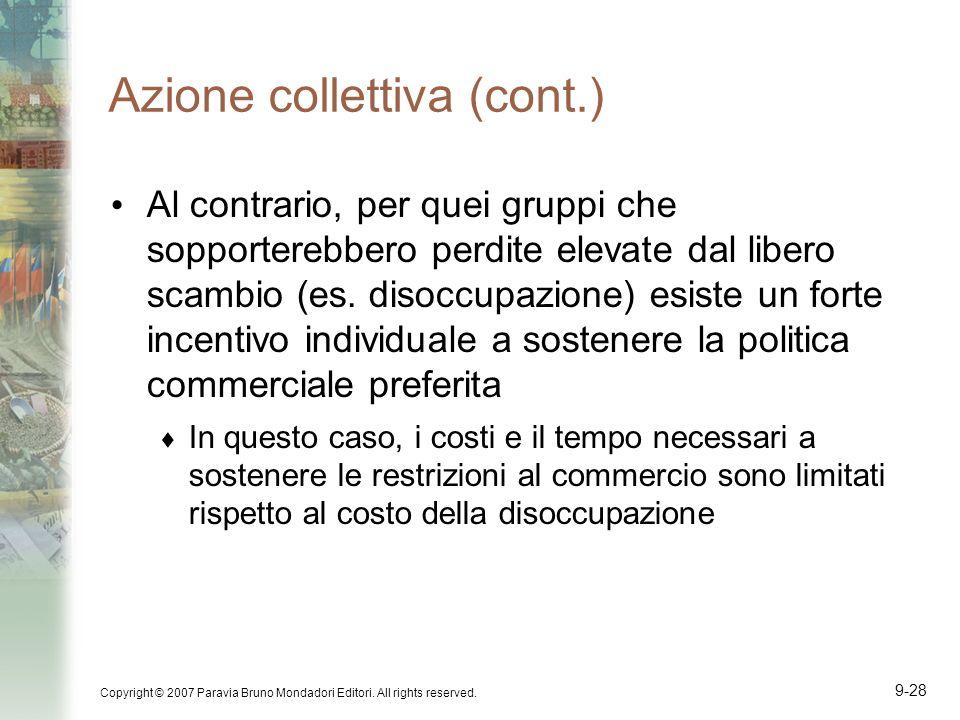 Azione collettiva (cont.)