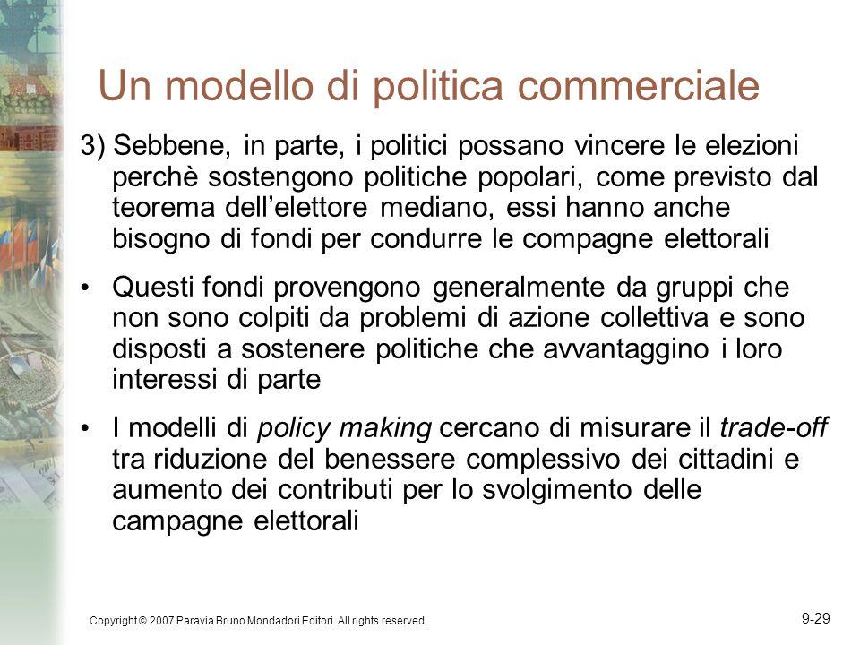 Un modello di politica commerciale