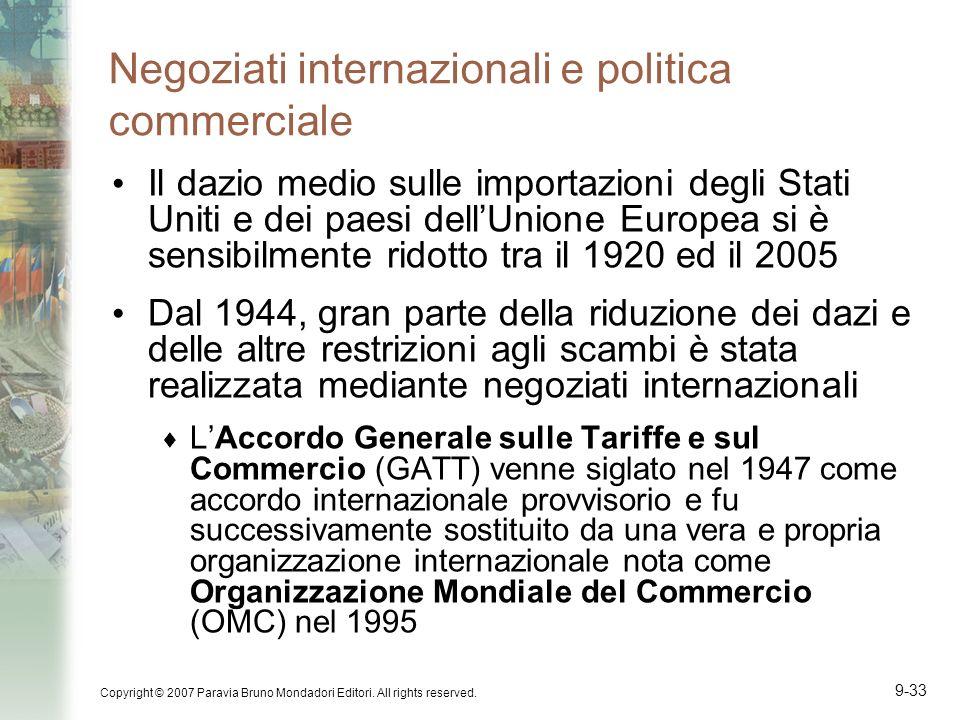 Negoziati internazionali e politica commerciale