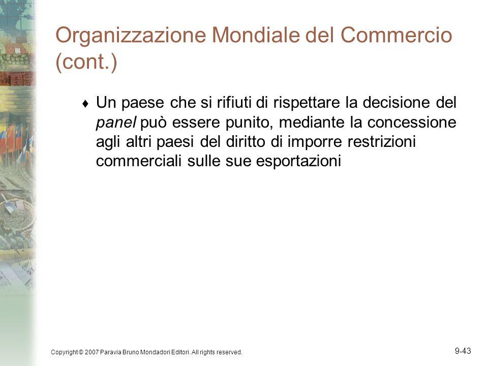 Organizzazione Mondiale del Commercio (cont.)