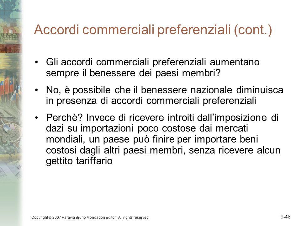 Accordi commerciali preferenziali (cont.)