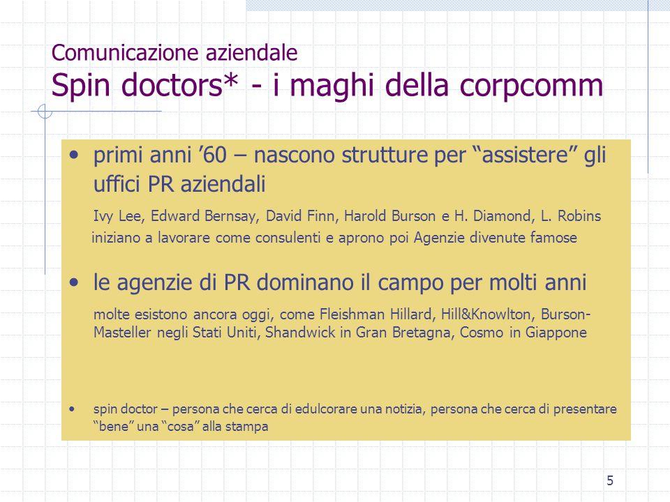 Comunicazione aziendale Spin doctors* - i maghi della corpcomm