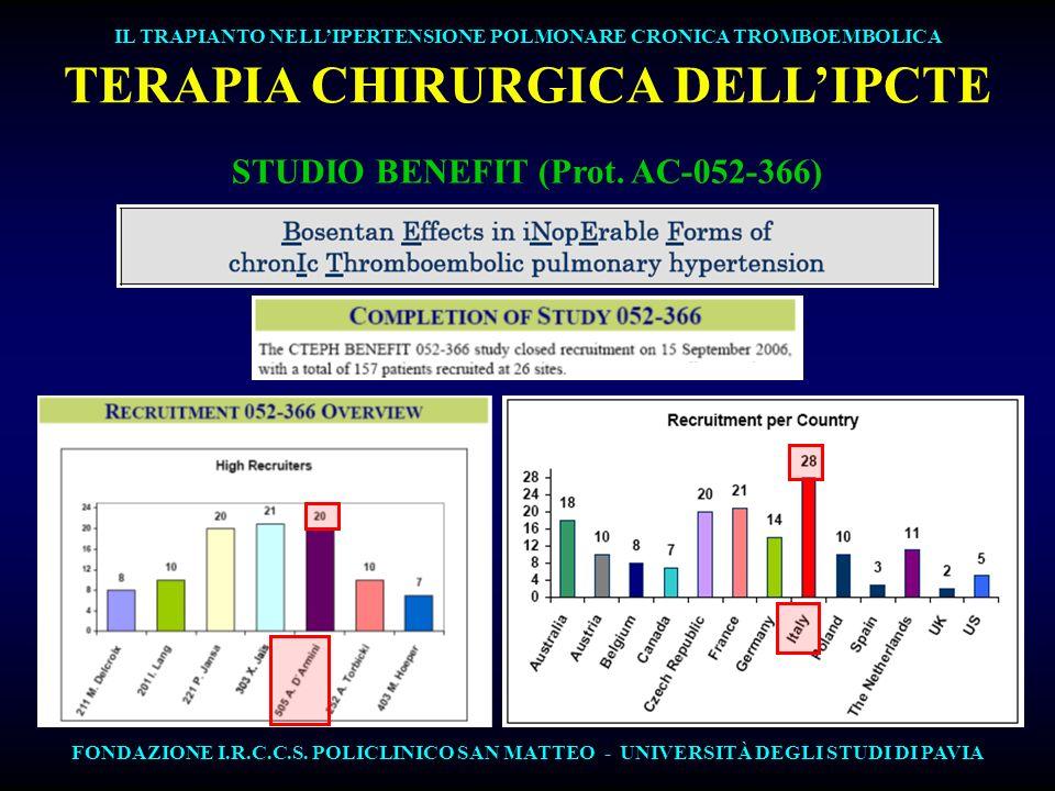 TERAPIA CHIRURGICA DELL'IPCTE STUDIO BENEFIT (Prot. AC-052-366)