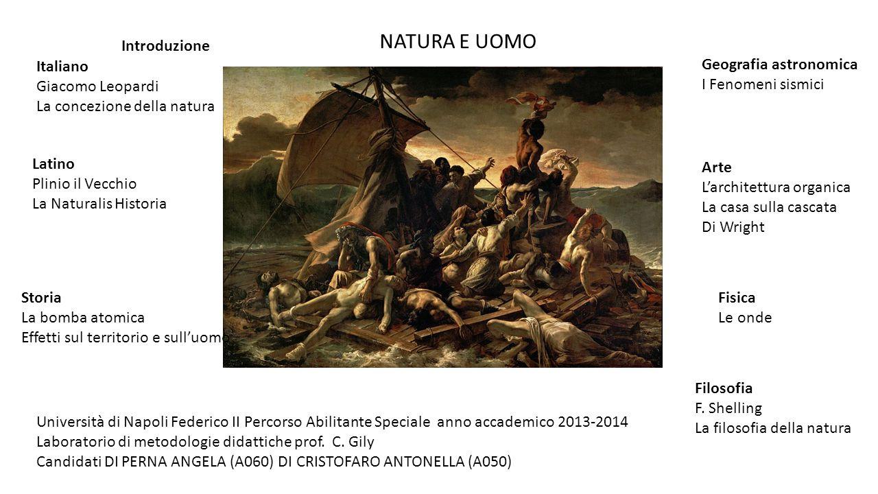 NATURA E UOMO Introduzione Italiano Giacomo Leopardi