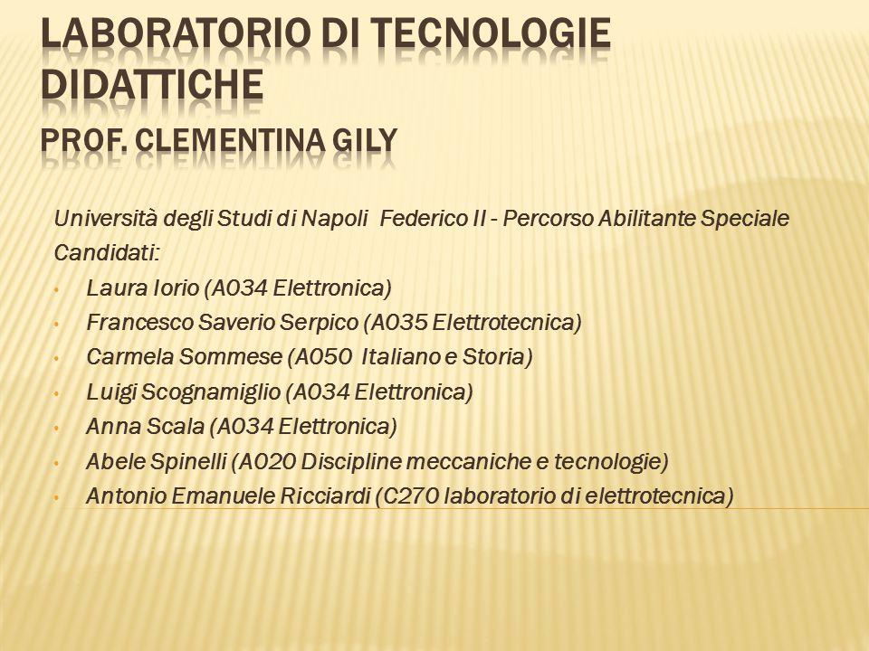 Laboratorio di Tecnologie Didattiche prof. Clementina Gily