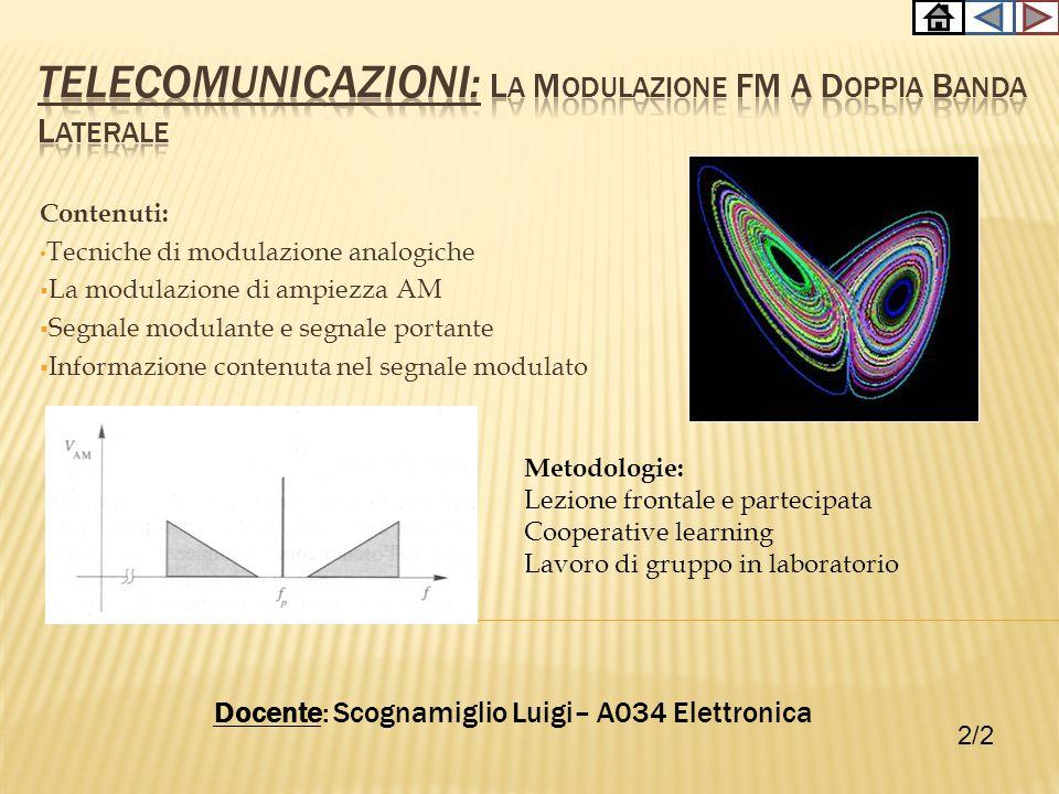 TELECOMUNICAZIONI: la modulazione FM a doppia banda laterale