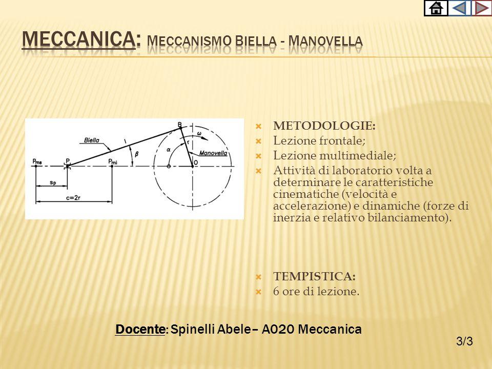 Meccanica: Meccanismo biella - manovella
