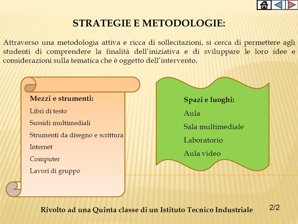 STRATEGIE E METODOLOGIE:
