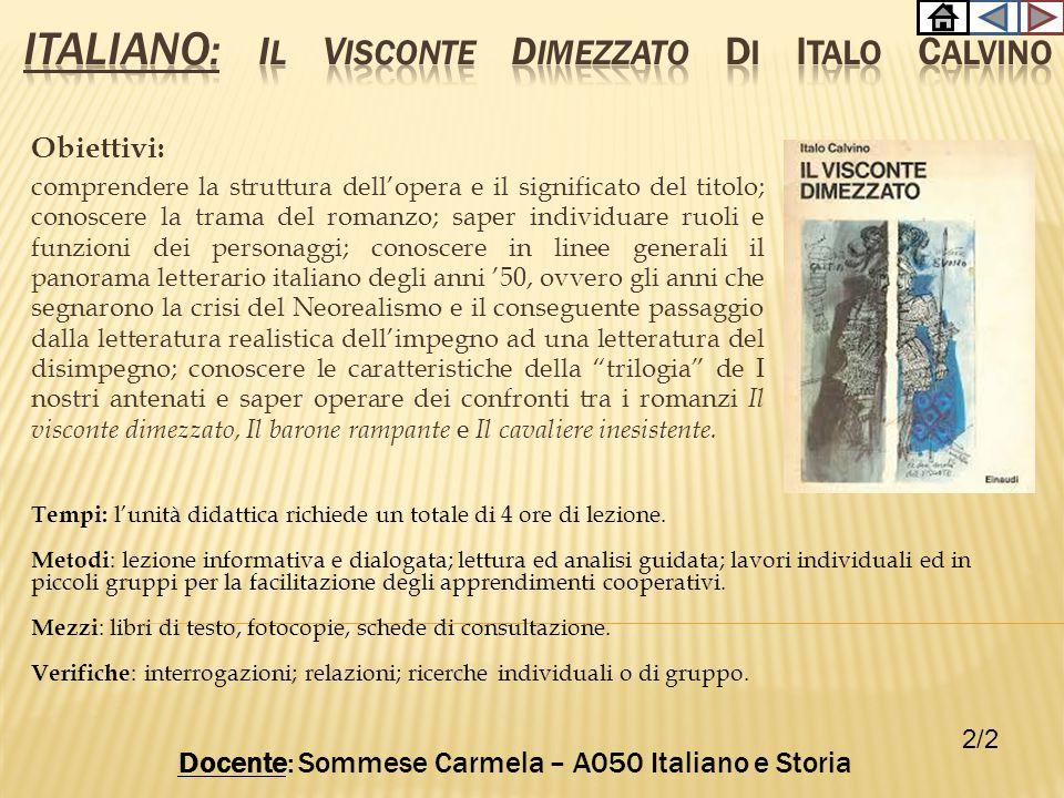 Italiano: IL visconte dimezzato di Italo Calvino