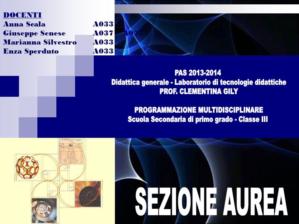 DOCENTI Anna Scala A033. Giuseppe Senese A037 A037. Marianna Silvestro A033. Enza Sperduto A033.
