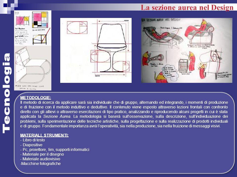 Tecnologia La sezione aurea nel Design METODOLOGIE:
