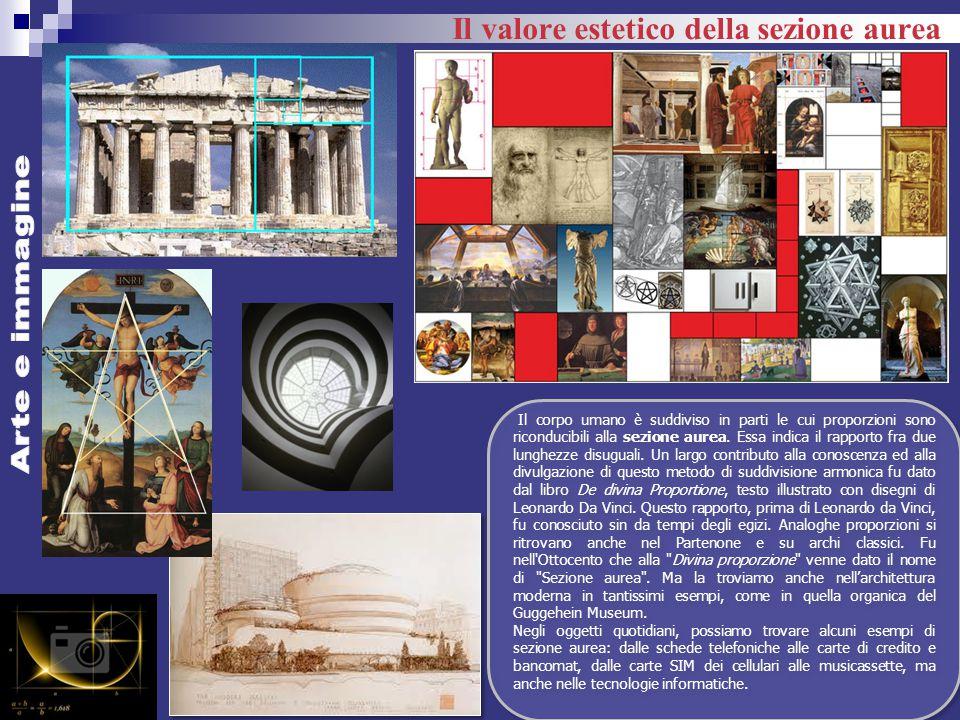 Arte e immagine Il valore estetico della sezione aurea