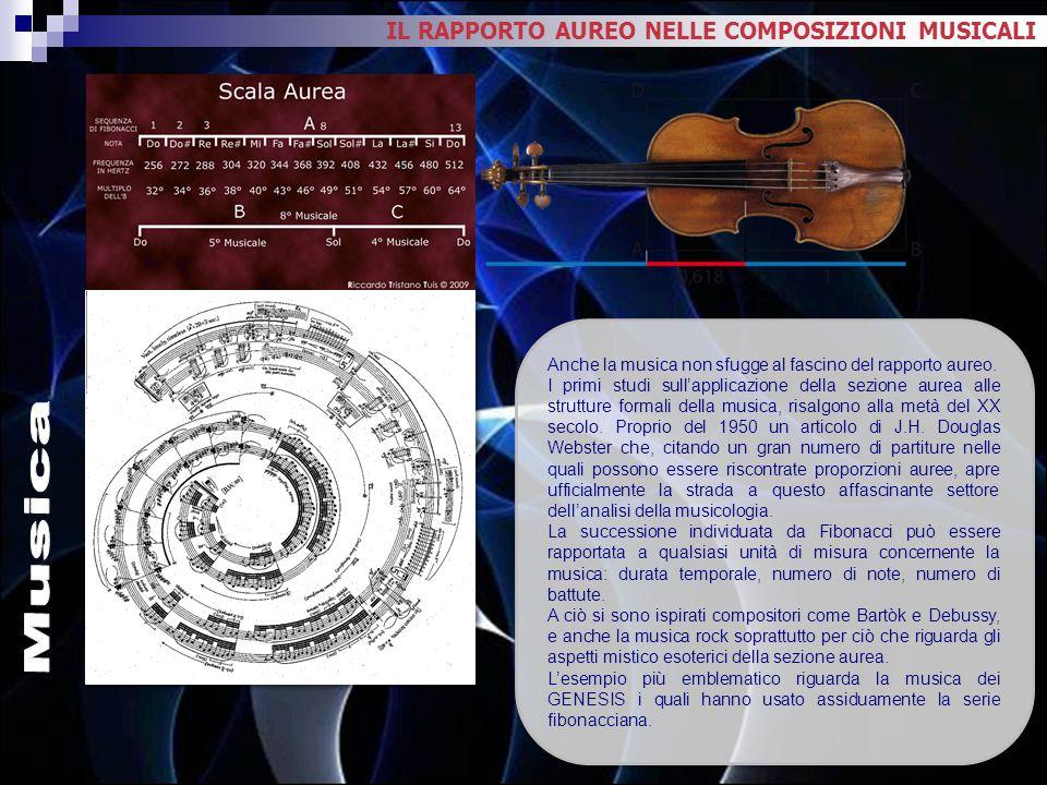 Musica IL RAPPORTO AUREO NELLE COMPOSIZIONI MUSICALI