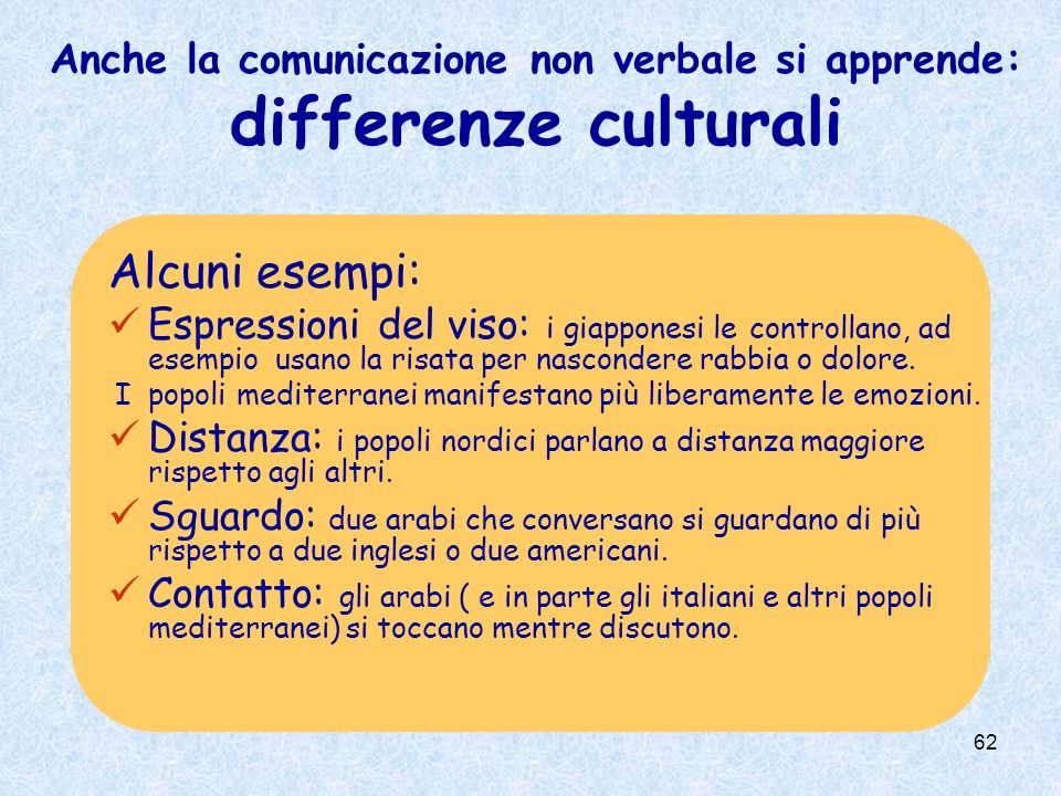 Anche la comunicazione non verbale si apprende: differenze culturali