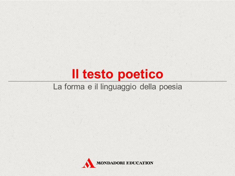 La forma e il linguaggio della poesia
