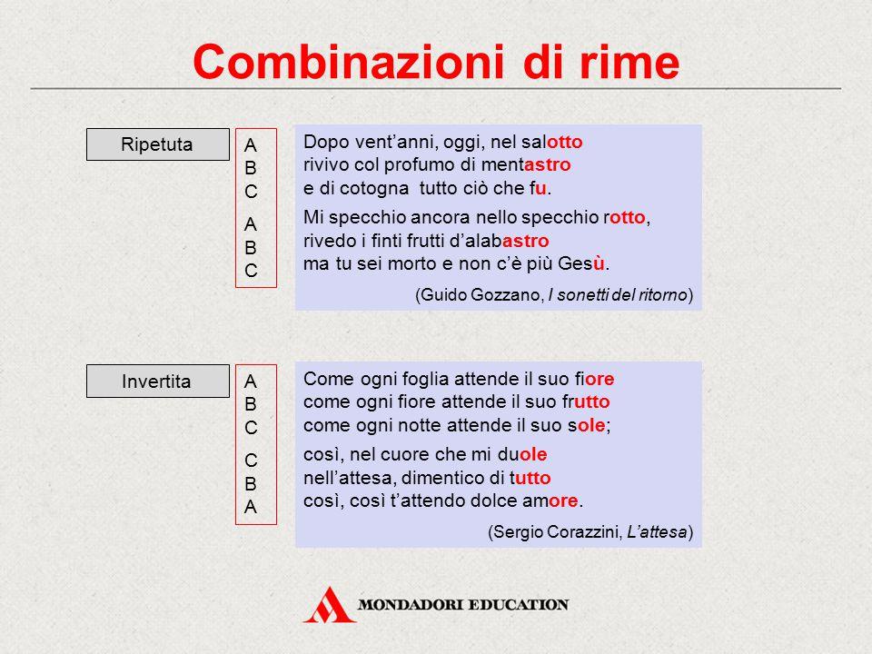 Combinazioni di rime Ripetuta A B C A B