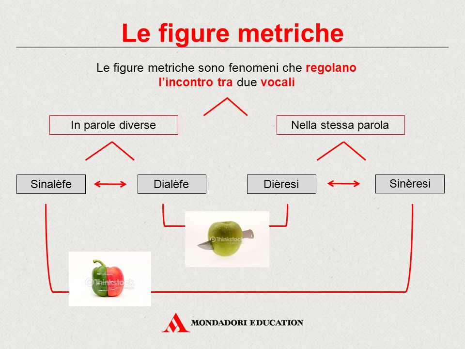 Le figure metriche Le figure metriche sono fenomeni che regolano l'incontro tra due vocali. Nella stessa parola.