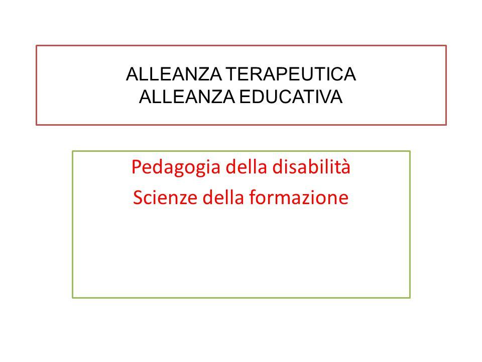 ALLEANZA TERAPEUTICA ALLEANZA EDUCATIVA