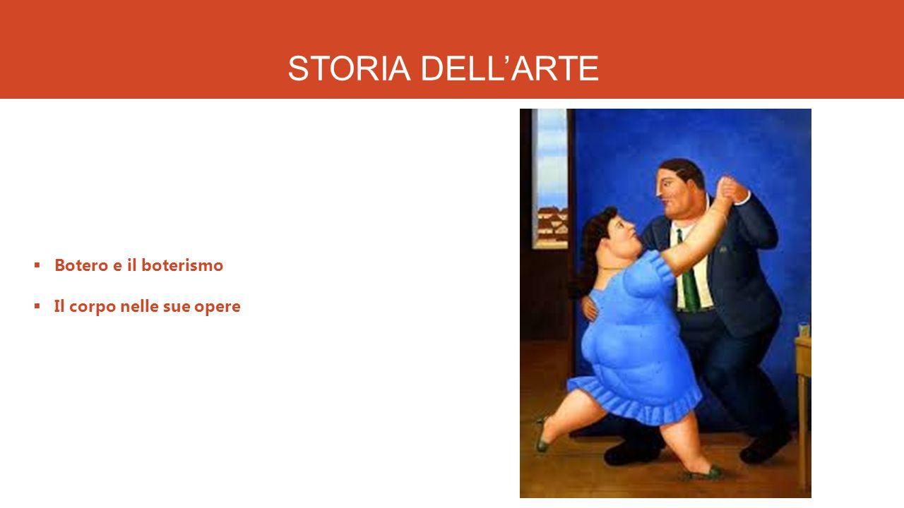 STORIA DELL'ARTE Botero e il boterismo Il corpo nelle sue opere