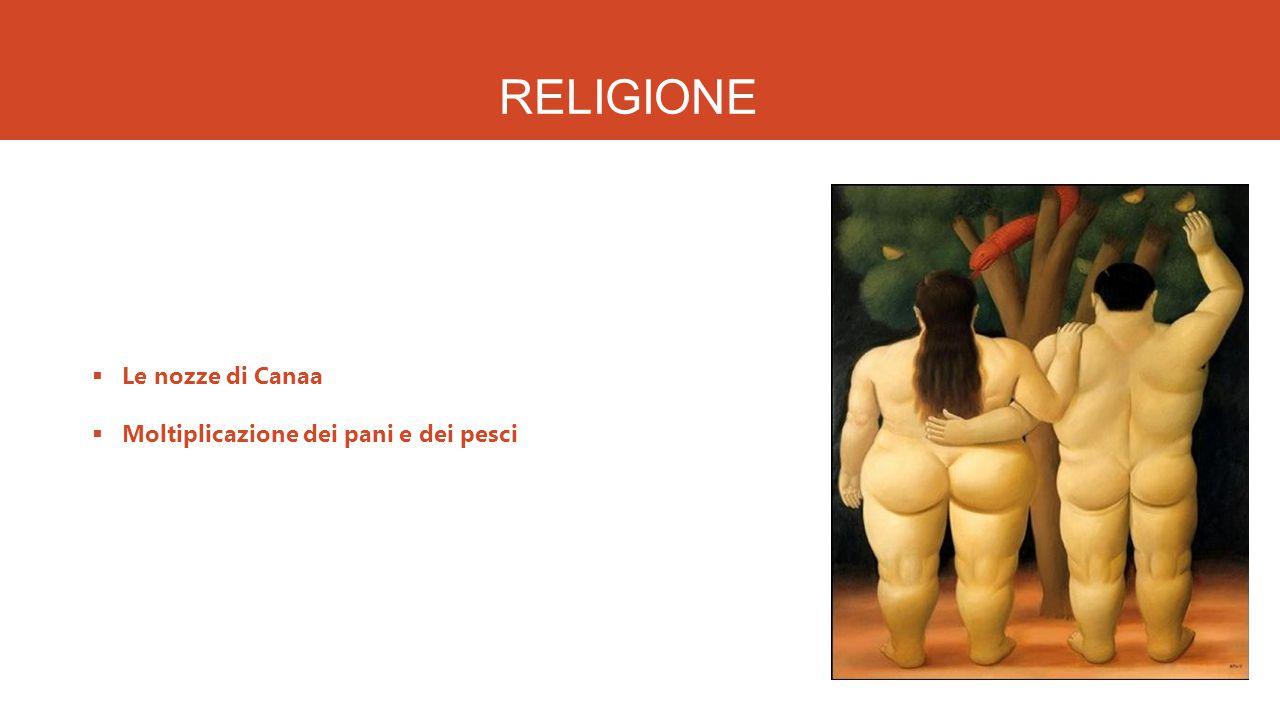 RELIGIONE Le nozze di Canaa Moltiplicazione dei pani e dei pesci