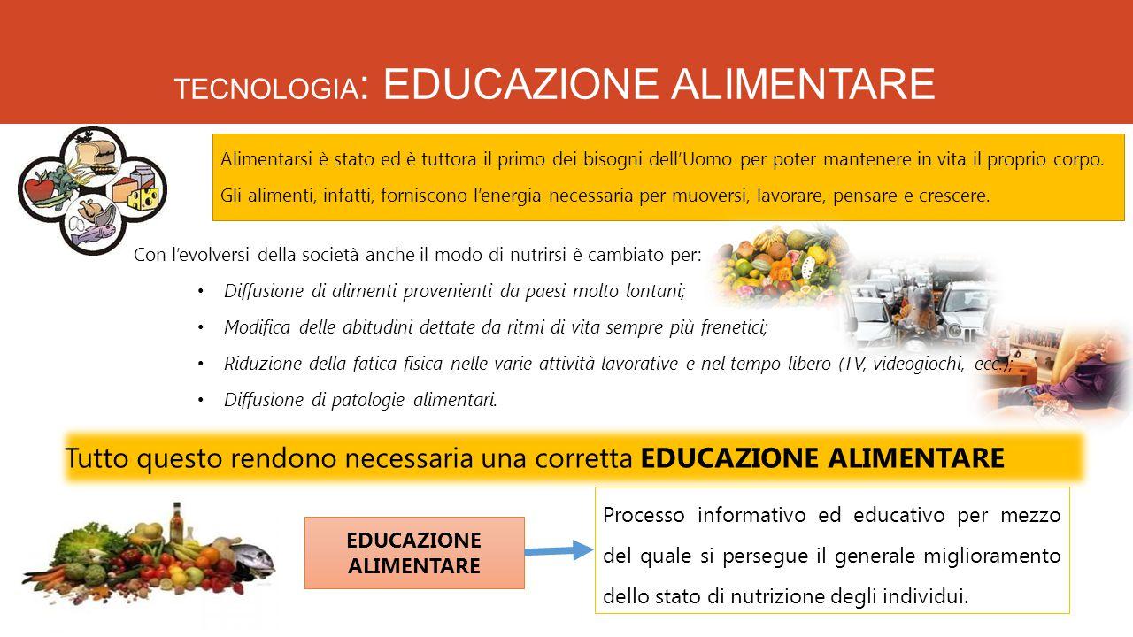 TECNOLOGIA: EDUCAZIONE ALIMENTARE