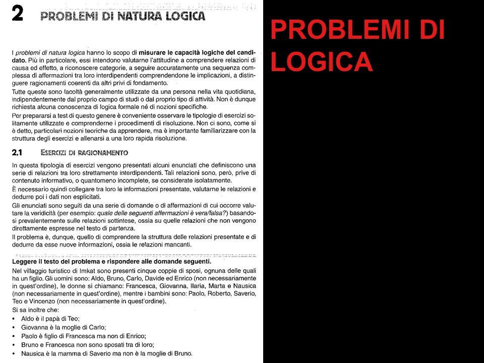 PROBLEMI DI LOGICA