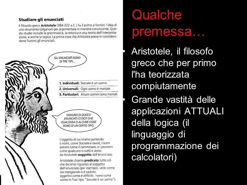 Qualche premessa… Aristotele, il filosofo greco che per primo l ha teorizzata compiutamente.