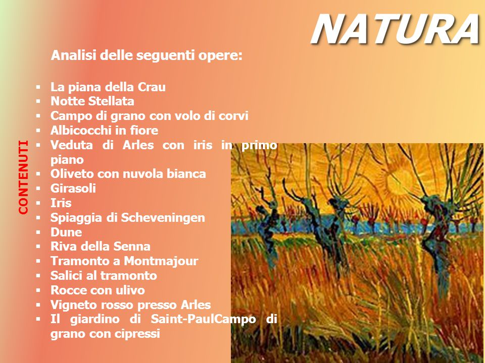 NATURA Analisi delle seguenti opere: La piana della Crau