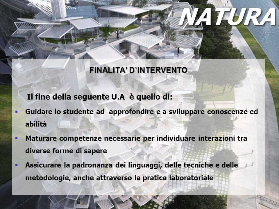FINALITA' D'INTERVENTO