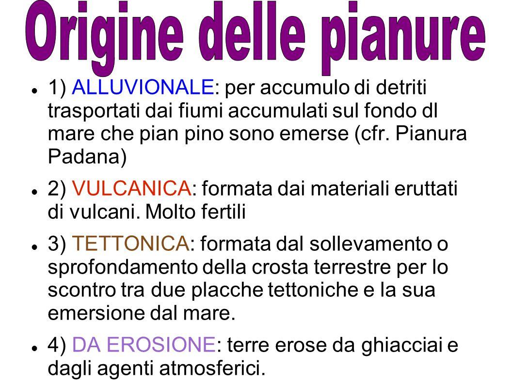 2) VULCANICA: formata dai materiali eruttati di vulcani. Molto fertili